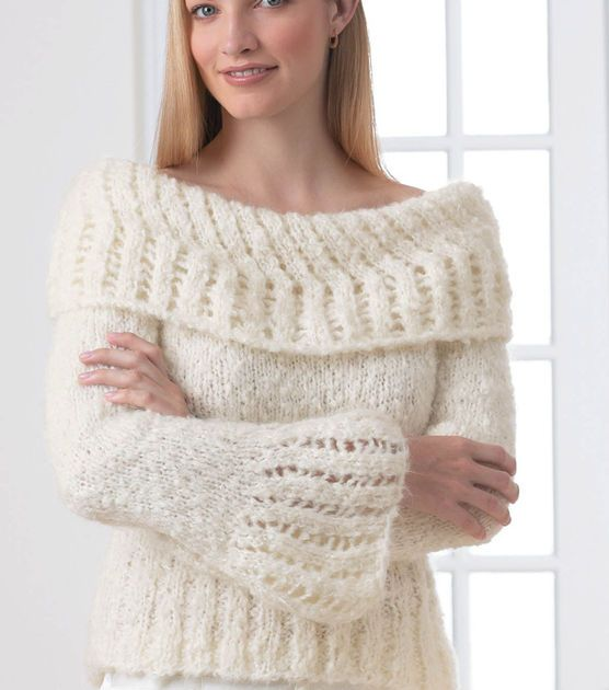 Knit this pretty lacework sweater!
