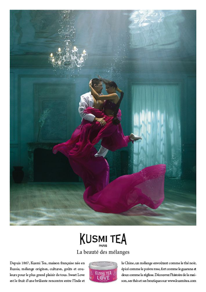 Kusmi Tea La beauté des mélanges sweet love Publicité Presse Video TBTC  G Communication Noir Blanc Black White Kusmi Tea : La beauté des mé...