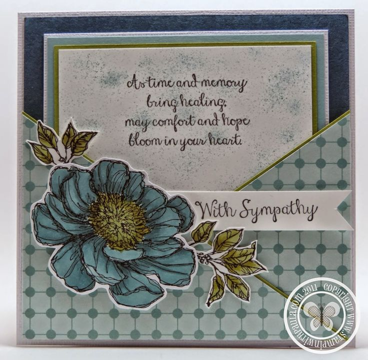pretty as sympathy card but like design with card in pocket and could be any sentiment
