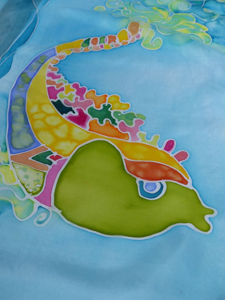 Baśniowe ryby malowane na jedwabiu...