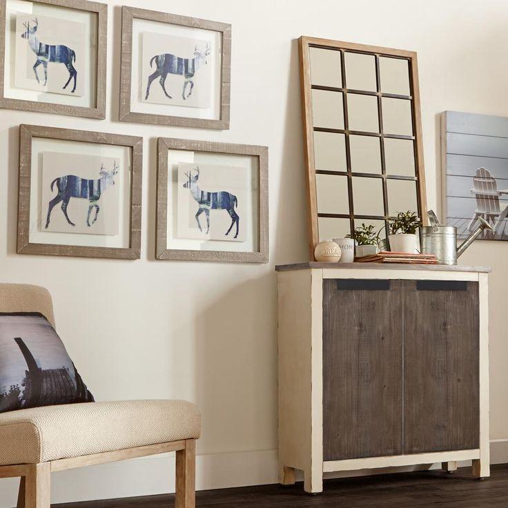 Miroir fen tre en bois d coration murale gallery wall wall et home decor for Fenetre miroir decoration