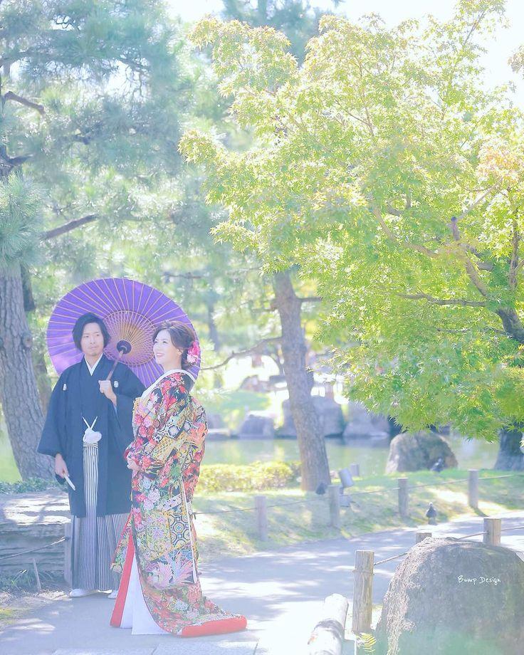 和装ってピシッと 型をつけると 美しくて気持ちいい   まだ色づき始め  ここ#徳川園 の もみじが紅葉したら そりゃキレイだろうなぁ  ただ新郎新婦さんや 観光客でごった返して しまうので  個人的には今が一番 オススメかな  #和装前撮り#色打掛 #プレ花嫁 #日本中のプレ花嫁さんと繋がりたい #結婚式準備 #ドレス試着 #前撮り#ウェディングフォト#ロケーションフォト#ウェディングドレス #farny_brides#卒花 #2018春婚#プロポーズ#ウェディングソムリエアンバサダー#東海プレ花嫁#東京カメラ部