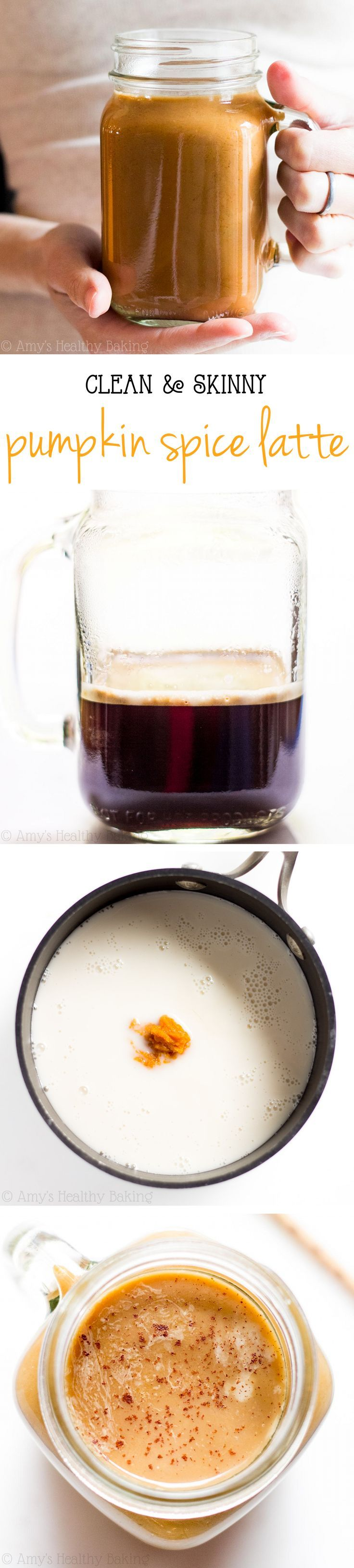 Clean-Eating Pumpkin Spice Latte -- a skinny copycat that tastes even better…