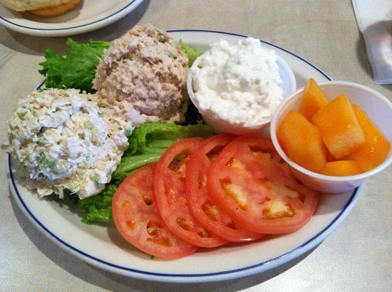 Ham Salad Dish | Schreiner's Restaurant: Cold salad plate with chicken, tuna, cottage ...
