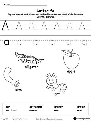 words with letters words starting with letter a phonics worksheets 25763 | 2b1d179e67b572a5de95a886ff6b2af4 phonics worksheets kindergarten worksheets