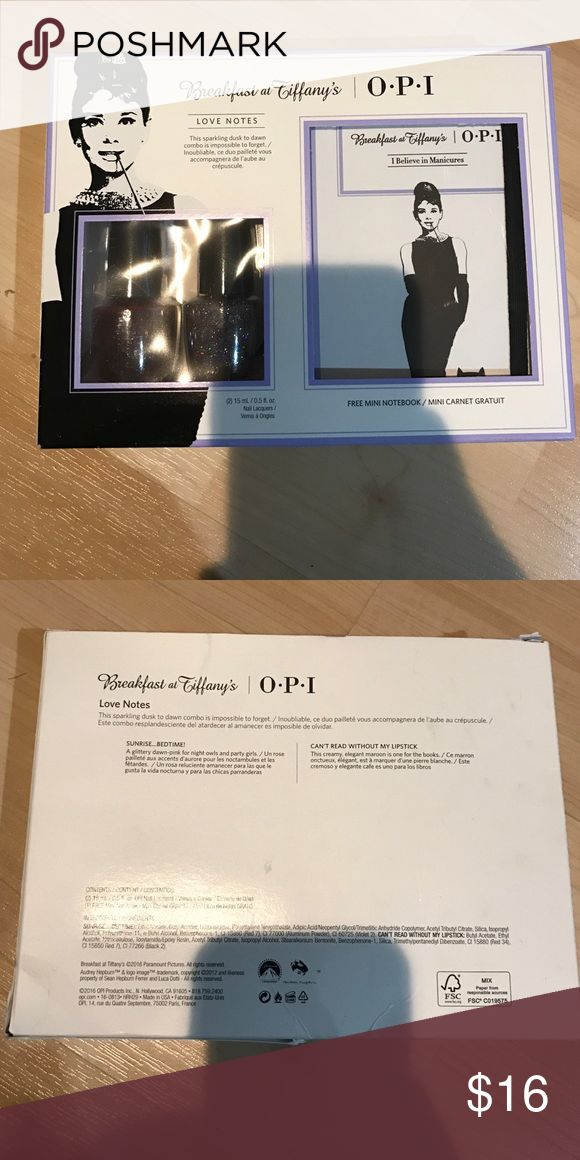 OPI Gift Set + Free Notebook Colors: sunrise....bedtime & cant ready without my lipstick opi Makeup