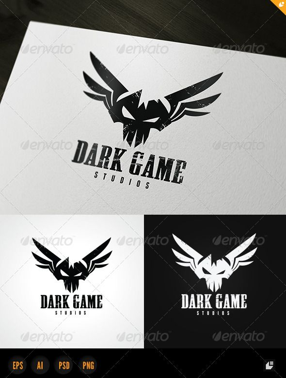 Dark Game Logo  #GraphicRiver        Dark Game – Logo Template  	 This logo design for gamer,games application services,games and apps developers,clean and modern Creative Studio logo template.  Logo Template Features   Photoshop file PSD  AI and EPS (Illustrator 10 EPS) 300PPI  PNG image file   CMYK  100% Scalable Vector Files  Easy to edit color / text  Ready to print  Free font used 	 Night Stalker Jersey M54  My Logo Templates Designs     	 If you buy and like this logo, please remember…