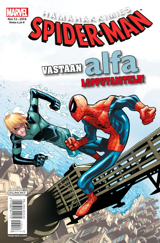 Hämähäkkimies - Spider-Man nro 12/2014. #sarjakuva #sarjakuvalehti #sarjis #egmont #marvel