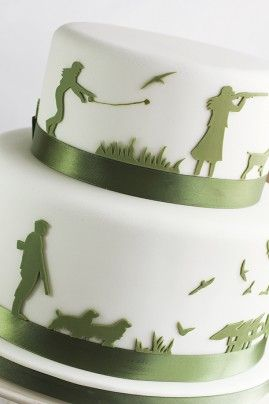 hunting silhouette wedding cake 2 web