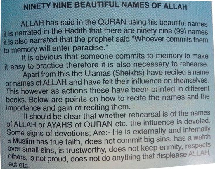 benefits of ya azizu - Google Search | 99 names of ALLAH