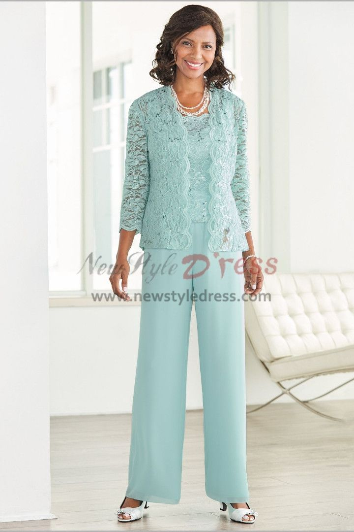 Blue Pantsuit For Wedding