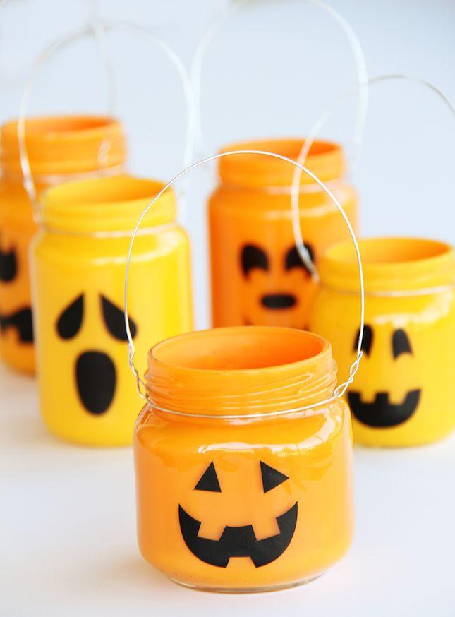 Jack-o'-Lantern Jars.