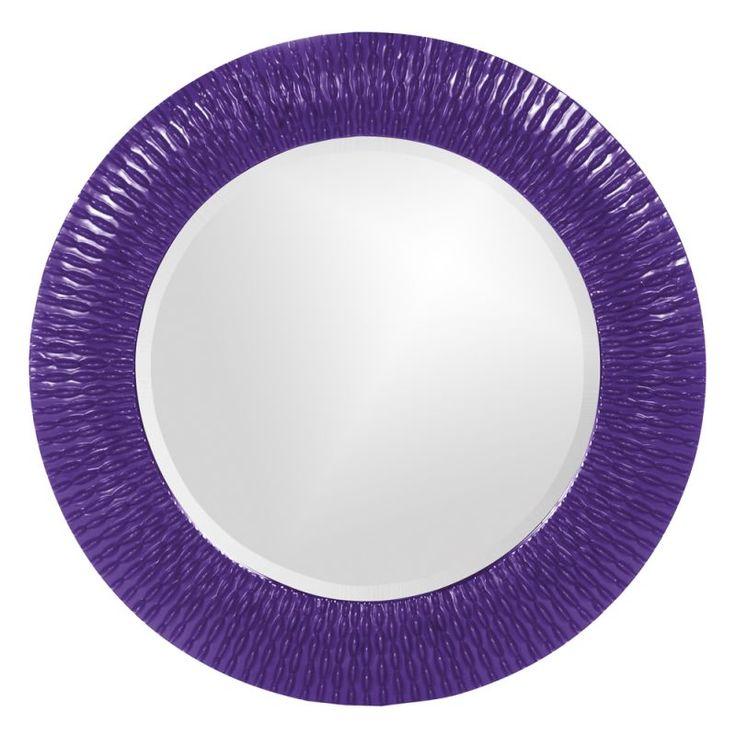 "Howard Elliott 21143RP Bergman Small Round 32"" x 32"" Bergman Royal Purple Small Royal Purple Home Decor Mirrors Lighting"