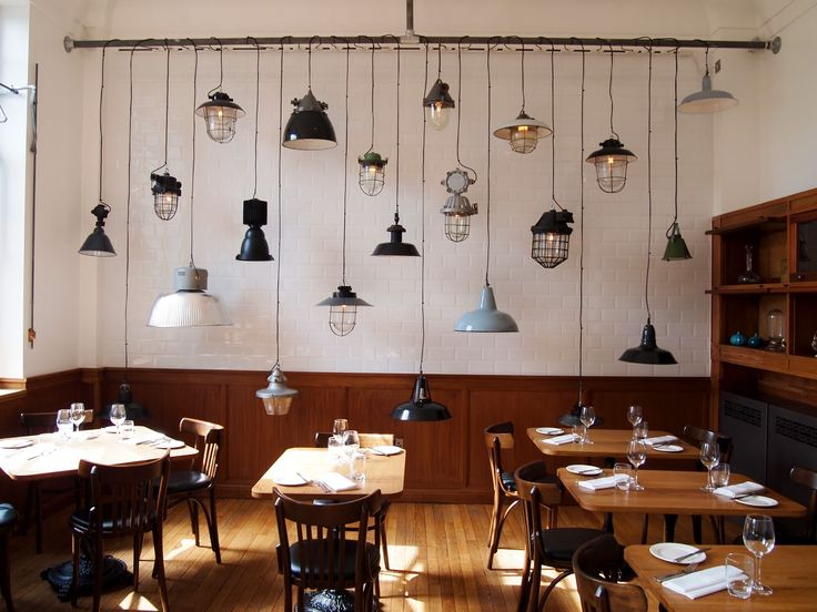 The corner room restaurant light pendant wall resto Restaurant lighting ideas