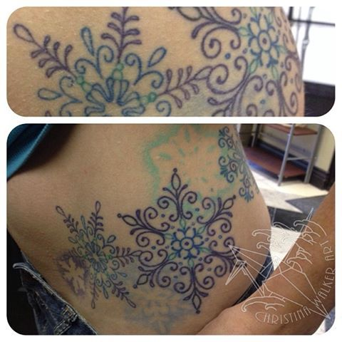 snowflakes tattoo
