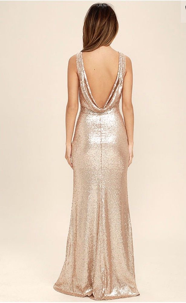 1f8da15c Lulus Matte Rose Gold Sequin Maxi Dress Bridesmaid Formal Gown M Holiday  Long #fashion #clothing #shoes #accessories #womensclothing #dresses (ebay  link)