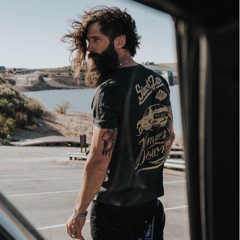 Hammer Down. Photo courtesy of @victorios secret @silasforest @slackjawapparel • #beardbrand #photography #beards #grooming #lifestyle #menswear #beard #style #teambeardbrand #mustache