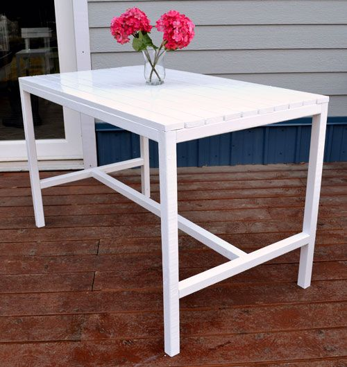 Ana White   Build a Harriet Outdoor Dining Table for Small Spaces   Free  and EasyBest 25  Outdoor dining tables ideas on Pinterest   Patio tables  . Outdoor Dining Table Plans Free. Home Design Ideas