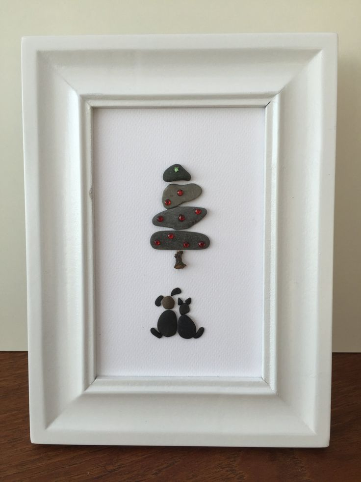 Dog And Cat Under Chistmas Tree by NisisArts on Etsy