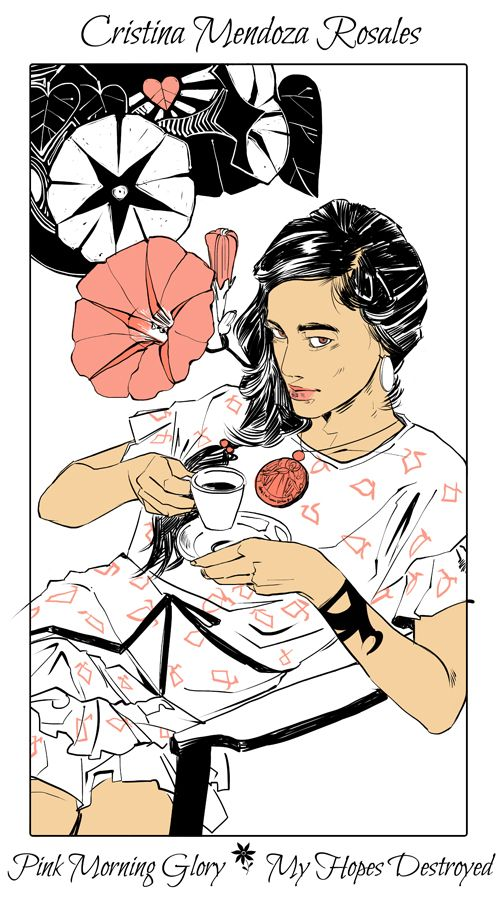 Cristina Mendoza Rosales - Pink Morning Glory (My Hopes Destroyed): Cassandra Jean: Shadowhunter Flowers Series: *Character belongs to Author Cassandra Clare and her Dark Artifices series