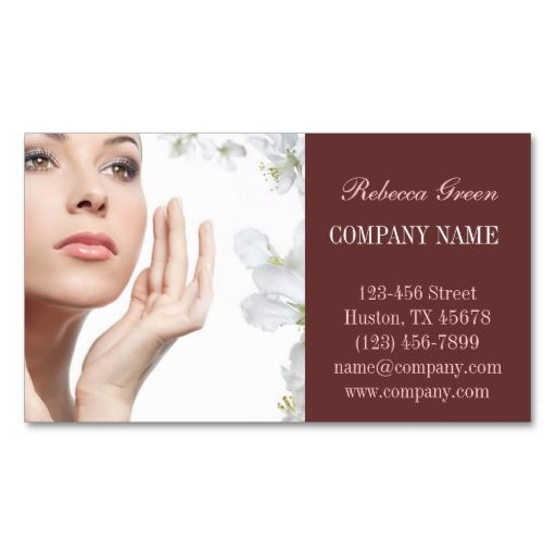 Beauty salon massage spa facial skin care business card - Beauty salon business ...