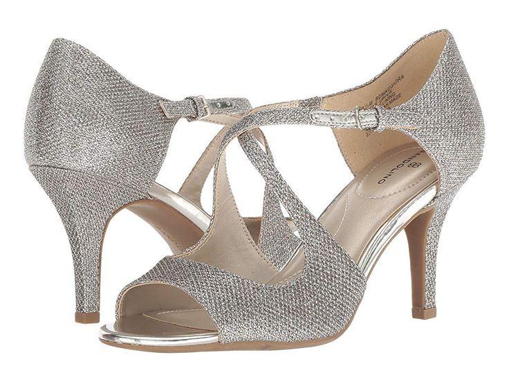Bandolino Maggiora (Gold Fabric) Women's Sandals. Garner
