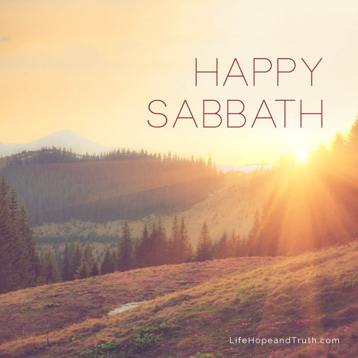 Happy Sabbath from Life, Hope & Truth!