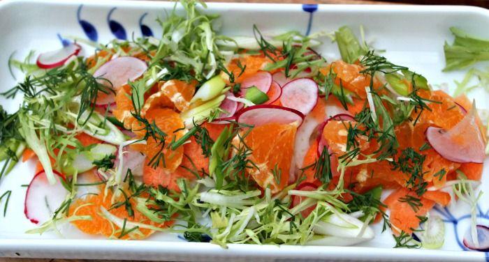 Gulerodssalat med appelsin,fennikel samt radiser
