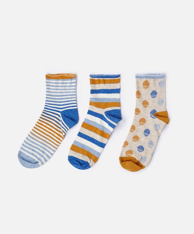 Pack de 3 calcetines rayas corto - OYSHO