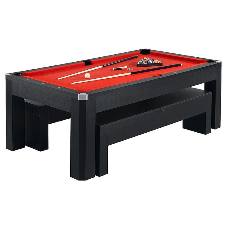 HathawayTM Park Avenue 7 Ft Pool Table Combo Set Dining With BenchDining TablesDining RoomGame