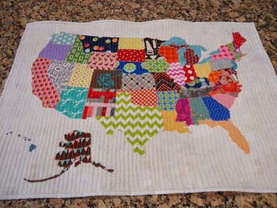 Best US Map Images On Pinterest Map Quilt Discount Designer - Us map quilt tutorial