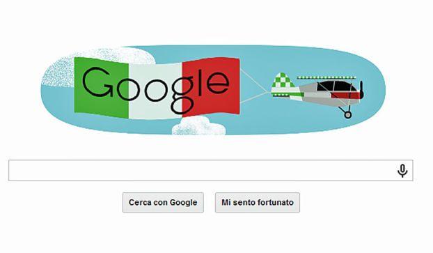 Festa della Repubblica 2014: il doodle Google sventola in cielo la bandiera italiana