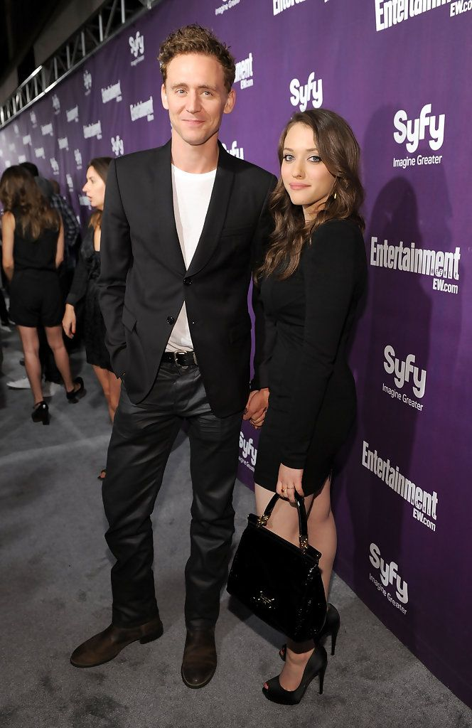 Kat Dennings  Tom Hiddleston at the #EW and #SyFy party during Comic-Con 2010 at Hotel Solamar in San Diego, California (July 24, 2010) | promoting Thor (2011)