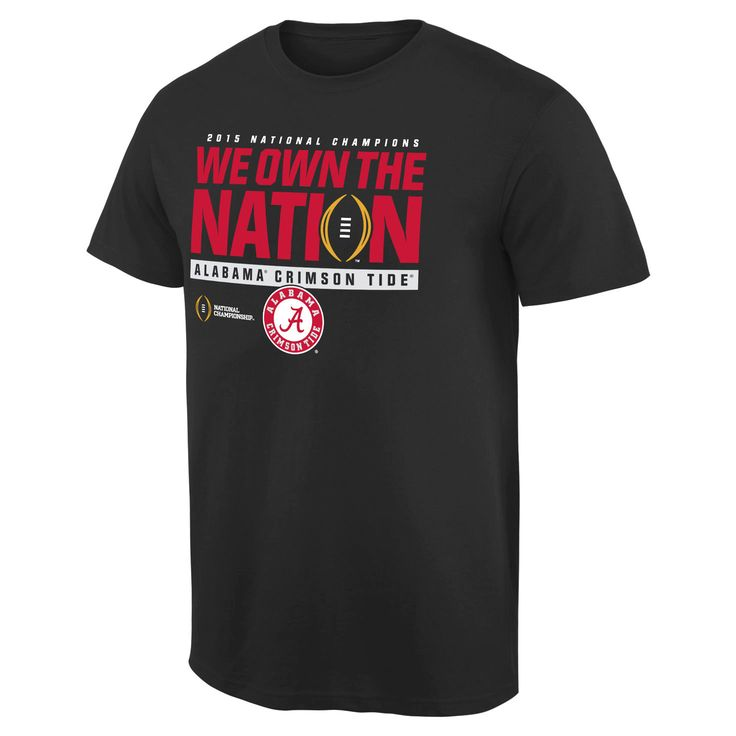 Alabama Crimson Tide College Football Playoff 2015 National Champions We Own the Nation T-Shirt - Black - $18.04