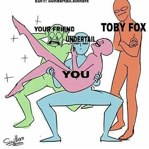 I was just gonna scroll past it, but then... TOBY. This is an accurate representation of ALL ASPECTS of this fandom.