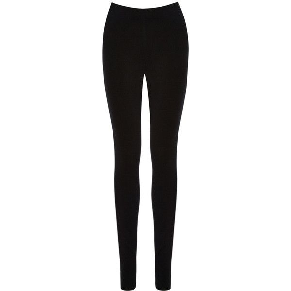 OASIS Cara Black Denim Legging ($46) ❤ liked on Polyvore featuring pants, leggings, bottoms, jeans, black, high waisted leggings, high rise leggings, denim jeggings, jean leggings and black denim leggings