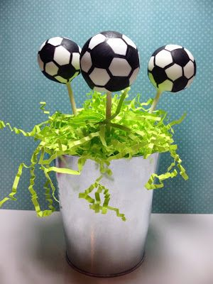 Soccer Ball cake pops   These were difficult and time consuming but they were well worth the effort!
