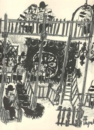 Emanuele Luzzati's original prints, lithographs and etchings