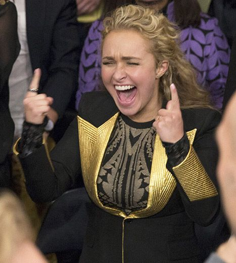 Hayden Panettiere freaks out over her fiance Wladimir Klitschko's win at Madison Square Garden on April 25 against the U.S.'s Bryant Jennings.
