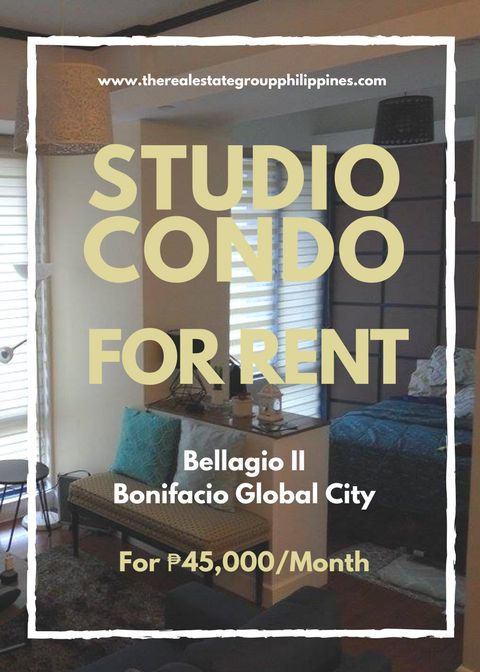For Rent  Studio Condominium - Bellagio Two Fully Furnished 45000/Month  http://ift.tt/2t4s5Kl
