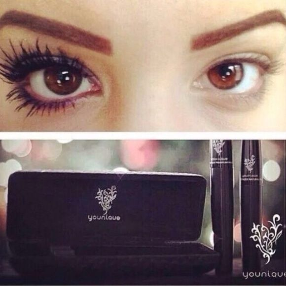 Younique mascara Younique mascara, BRAND NEW! never used, 2 pieces, fair price, and gives you long looking eyelashes. Younique Makeup Mascara