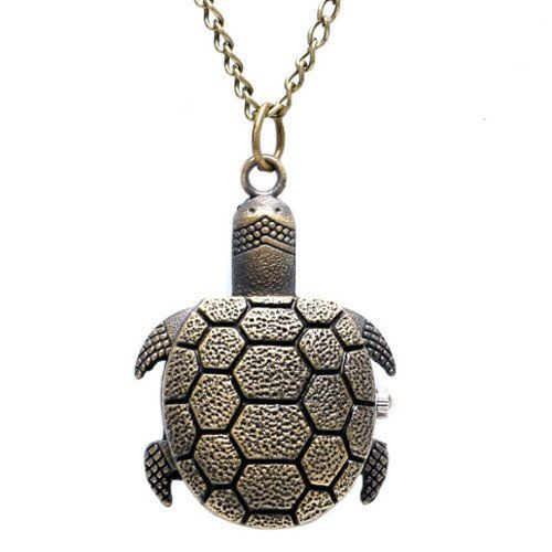 Funny Turtle Pocket Watch With Chain