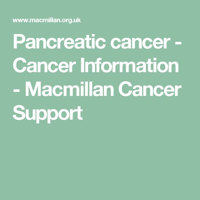 Pancreatic cancer - Cancer Information - Macmillan Cancer Support