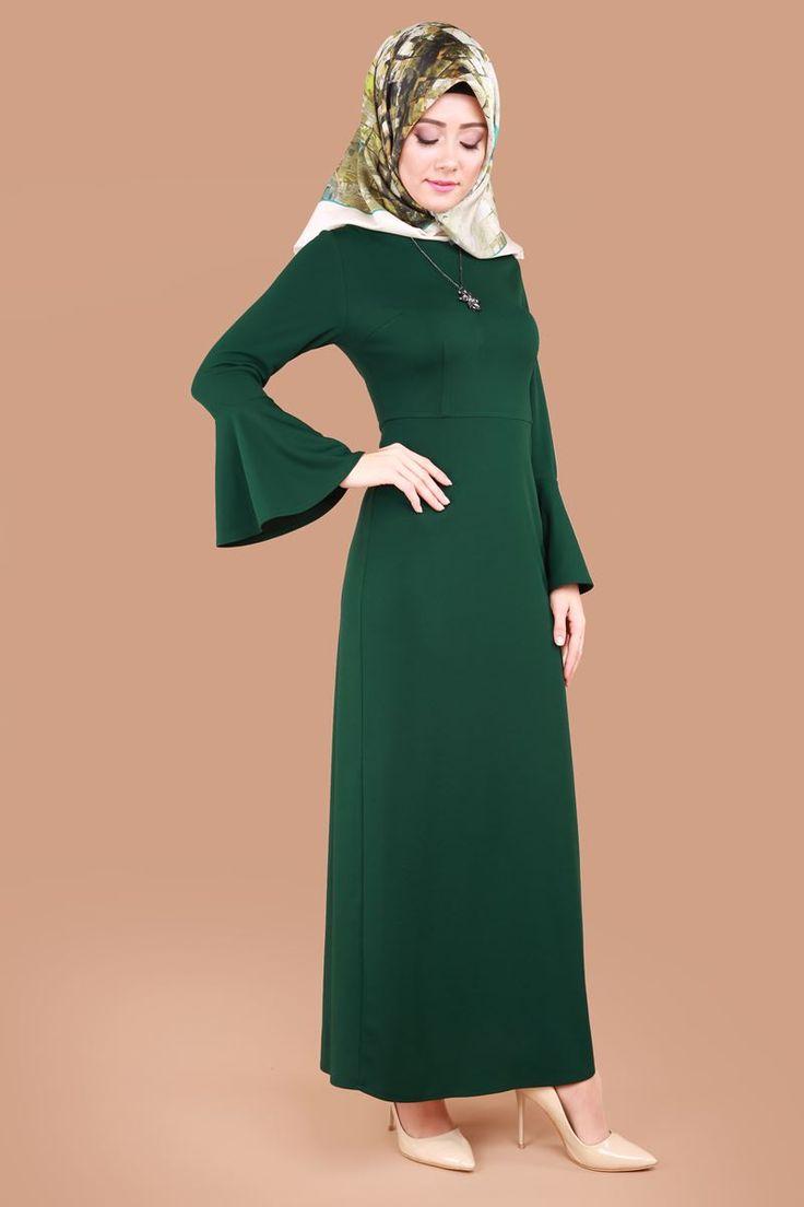 Yıldız Kolyeli Tesettür Elbise Zümrüt Ürün kodu: CNG2813 --> 59.90 TL