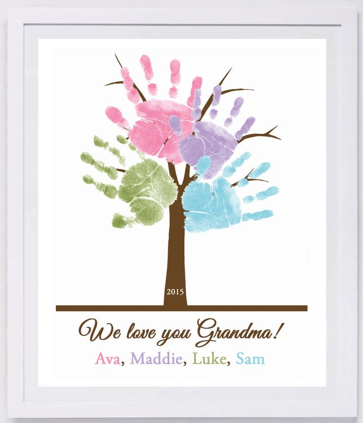 Family Tree Handprint Wall Art 801 Pap Crafts By Kids