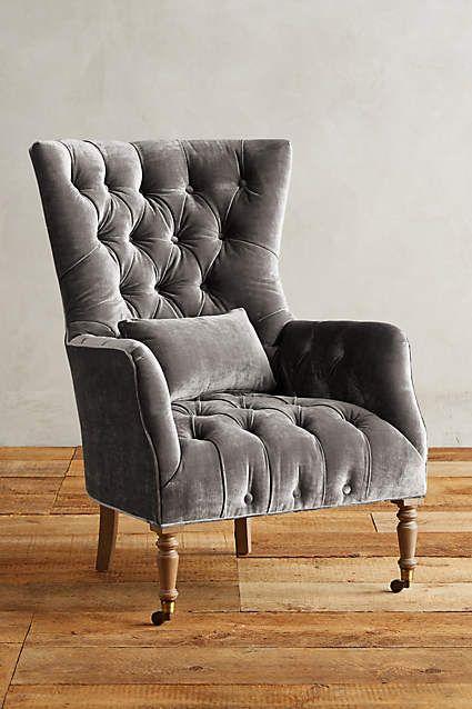 Slub Velvet Julienne Chair - anthropologie.com