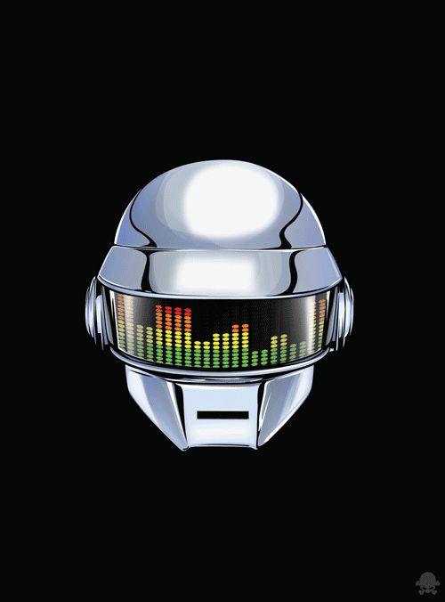 Animated Gift of Daft Punks's Helmets