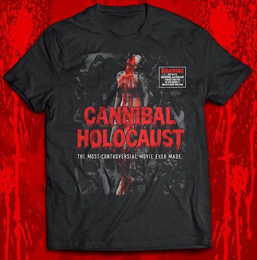 Cannibal Holocaust  women on stake Licensed Tshirt FREE