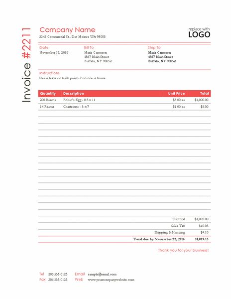 13 Best Invoice Template Images On Pinterest Corporate Design