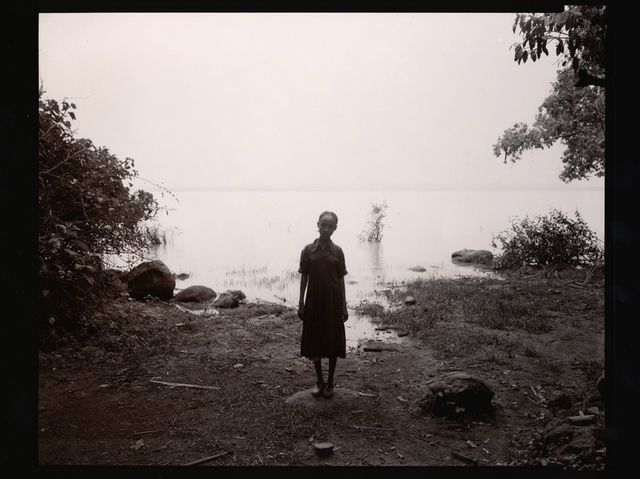 Girl at Lakeshore, Ethiopia, 2006, by Linda Connor